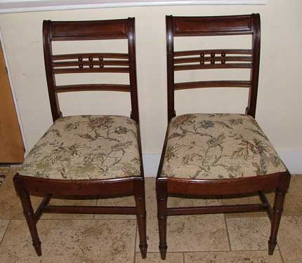 19thC mahogany dining chairs
