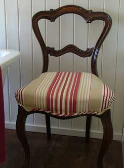 Case study chair after reupholstery