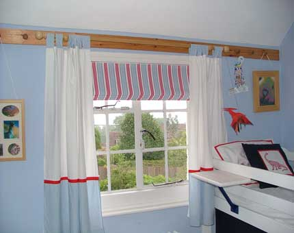 Image of a roman blind made by Caroline Rance